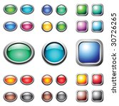 color buttons set. vector. | Shutterstock .eps vector #30726265