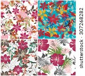 floral seamless pattern  ... | Shutterstock .eps vector #307268282
