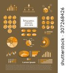 set of infographics elements  ...
