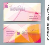 stylish business cards with... | Shutterstock .eps vector #307269572