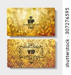 textured vip gold cards | Shutterstock .eps vector #307276595