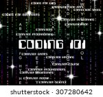 coding word indicating... | Shutterstock . vector #307280642