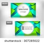 modern  isolated  geometric ... | Shutterstock .eps vector #307285022