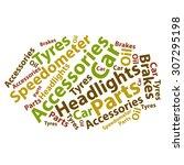 text cloud. car word cloud.... | Shutterstock .eps vector #307295198