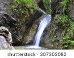 waterfall  mala fatra national... | Shutterstock . vector #307303082