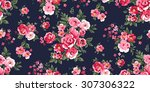 seamless classic floral pattern ... | Shutterstock .eps vector #307306322