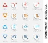 vector zodiac signs. set of... | Shutterstock .eps vector #307307966