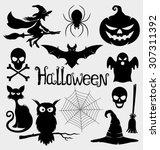 vector set. halloween signs. | Shutterstock .eps vector #307311392
