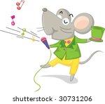 Illustration Of Singing Mouse...