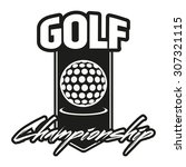 golf club labels with sample... | Shutterstock .eps vector #307321115