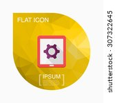 tablet setting icon  vector...