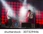 """Small photo of Bollate (Italy) 21/07/2015 - Concert of English rock band """"The Kooks"""" at the Festival of Villa Arconati."""
