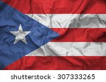 puerto rico flag. illustration | Shutterstock . vector #307333265