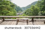 mountain viewpoint at mae... | Shutterstock . vector #307336442
