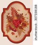 Autumn Card Old Style  Vector...