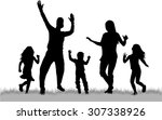 dancing people silhouettes | Shutterstock .eps vector #307338926