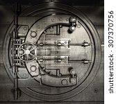 bank vault door. business... | Shutterstock . vector #307370756