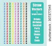 Straw Vector Set In Nine...