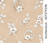 seamless hand drawn pattern... | Shutterstock .eps vector #307379258
