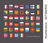 european countries flat flags... | Shutterstock .eps vector #307386902