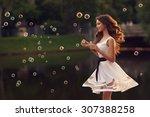 outdoor summer portrait of... | Shutterstock . vector #307388258