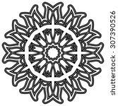 round ornament pattern. vintage ... | Shutterstock .eps vector #307390526