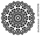 round ornament pattern. vintage ... | Shutterstock .eps vector #307390598