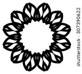 round ornament pattern. vintage ... | Shutterstock .eps vector #307390622