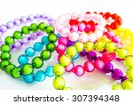 crystal beads  real shadow not... | Shutterstock . vector #307394348