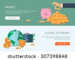 concepts for finance  stock... | Shutterstock .eps vector #307398848
