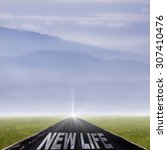 road with the message of new... | Shutterstock . vector #307410476
