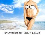 beach. | Shutterstock . vector #307412135