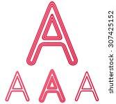 crimson line letter a logo...