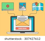 email marketing design with... | Shutterstock .eps vector #307427612