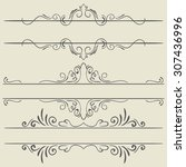 set. frames and borders. hand... | Shutterstock .eps vector #307436996