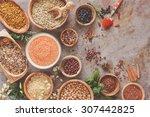 Assortment Of Legumes  Grain...