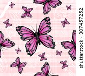 seamless pattern with colorful... | Shutterstock . vector #307457252