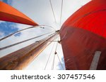 traditional wooden boat  with... | Shutterstock . vector #307457546
