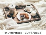 breakfast in bed. window light | Shutterstock . vector #307470836