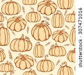vector seamless pattern of hand ... | Shutterstock .eps vector #307471016