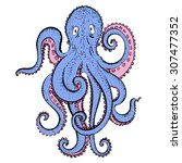 vector hand drawing cartoon... | Shutterstock .eps vector #307477352