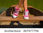 boat shoes feet | Shutterstock . vector #307477796