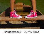 boat shoes feet | Shutterstock . vector #307477865