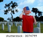 American Grief. - stock photo