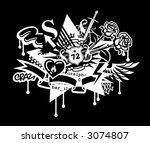 chaos | Shutterstock .eps vector #3074807
