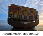 aft container ship msc...