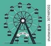 beautiful vector ferris... | Shutterstock .eps vector #307489202