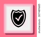 shield sign icons  vector... | Shutterstock .eps vector #307489685