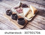 wine with appetizer | Shutterstock . vector #307501706