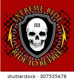 biker patch  | Shutterstock .eps vector #307535678